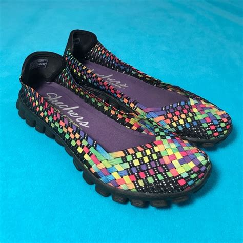 skechers multi color shoes skechers skechers size 9 5 like new multi color shoes