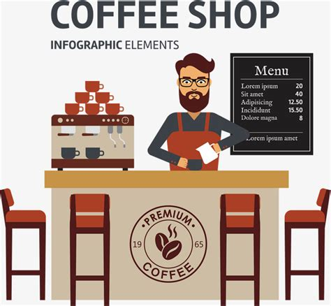 coffee shop vector design coffee shop vector hand coffee coffee bean png and