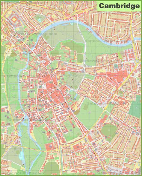 map uk cambridge cambridge city center map