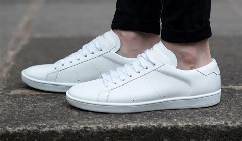 best white sneakers mens laurent white court classic sneakers review