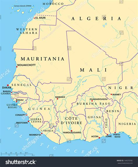 west africa map capitals west africa map map with capitals national