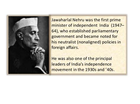 biography nehru english a presentation on the first prime minister of india