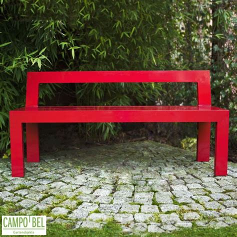 bank rot rote bank aus aluminium cobel