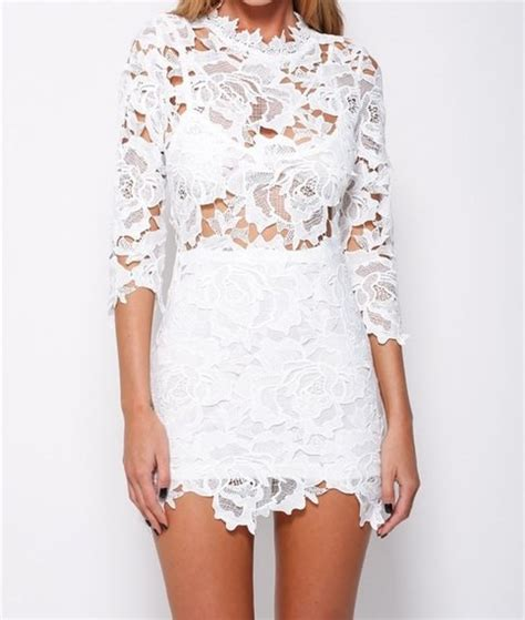 you are here home dresses white lace spliced open back maxi dress outletpad white rose lace 3 4 sleeve scoop neck bodycon