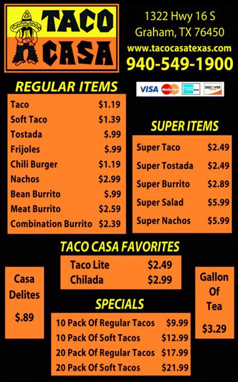 Taco Casa, Graham, TX 76450 7535     Yellowbook
