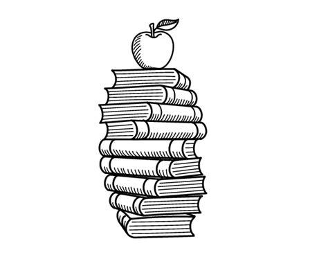 libros para colorear 2 libros para colorear dibujo de libros y manzana para colorear dibujos net