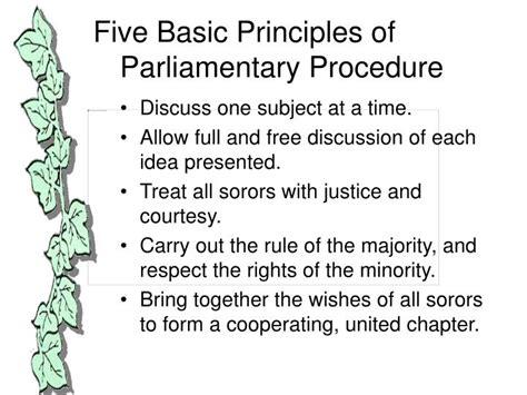 ppt parliamentary procedures powerpoint presentation id 5615808