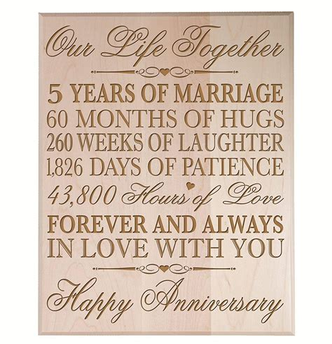 wedding anniversary gift for years top 20 best 5th wedding anniversary gifts heavy
