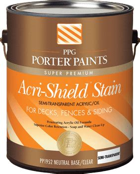 exterior stains from ppg porter paints 174