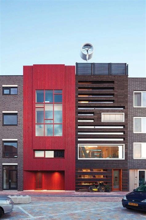 Modern Row House by Modern Row House Hyp Refs Pinterest