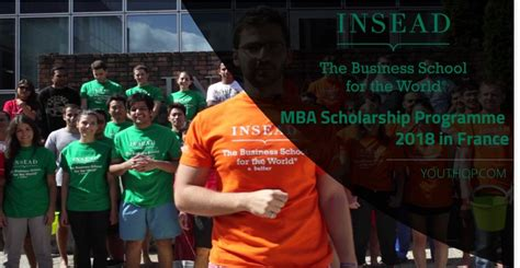 Nanyang Mba Scholarship by Insead Mba Scholarship Programme 2018 In Youth