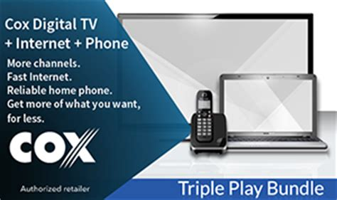 cox home phone plans cox silver triple play bundle cable internet access by