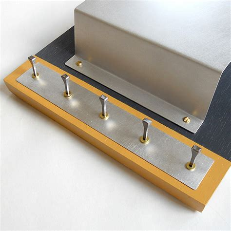 modern key rack for wall steel mail holder modern industrial wall mounted key rack