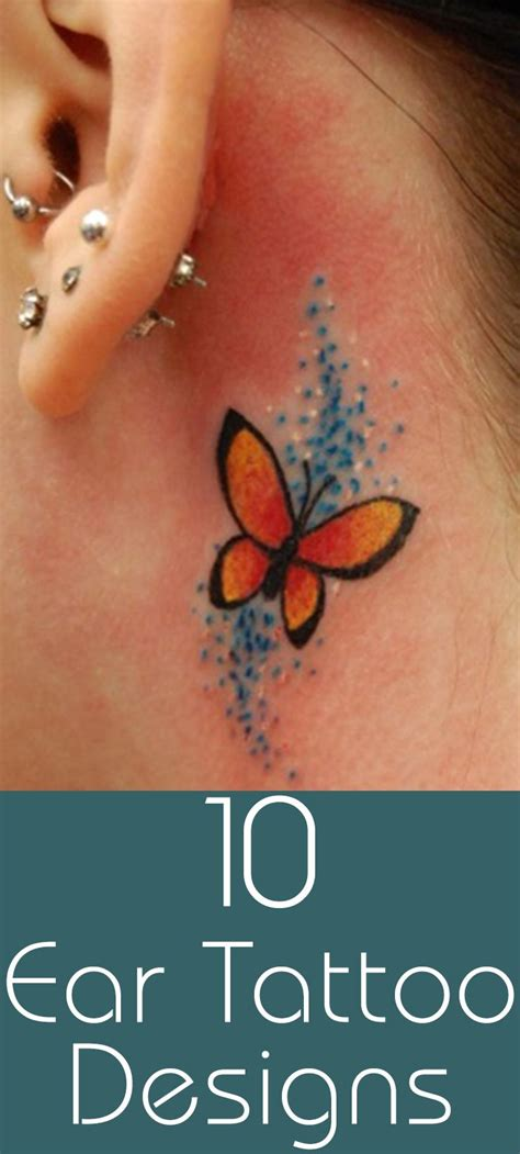 butterfly tattoo inside ear 164 best images about tattoos on pinterest
