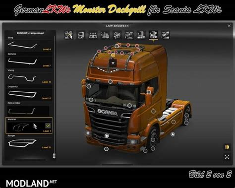 monster roofgrill  scania   mod  ets
