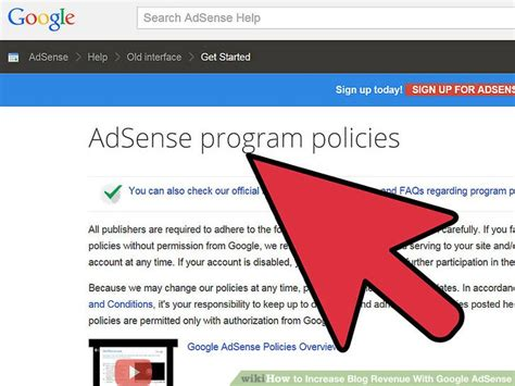 adsense guidelines how to increase blog revenue with google adsense 4 steps