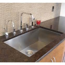 Undermounted Kitchen Sink 36 Inch Stainless Steel Undermount Single Bowl Kitchen