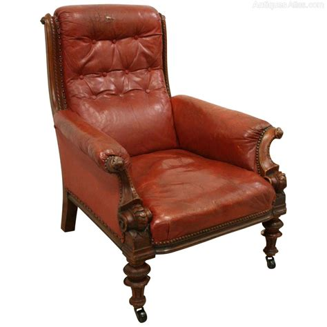 armchair antiques early victorian mahogany and leather armchair antiques atlas