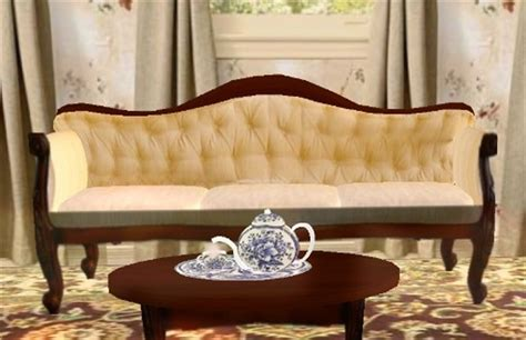 victorian style sofa set second life marketplace victorian wingback couch