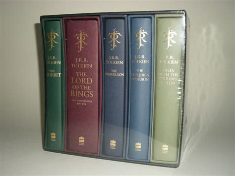 0007542925 unfinished tales deluxe slipcase edition the j r r tolkien 5 volume deluxe collection in