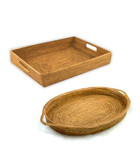 Decorative Trays by Wicker Trays Decorative In Many Tray Shapes Sizes