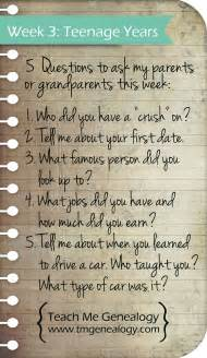 week 3 top five questions to ask your parents or