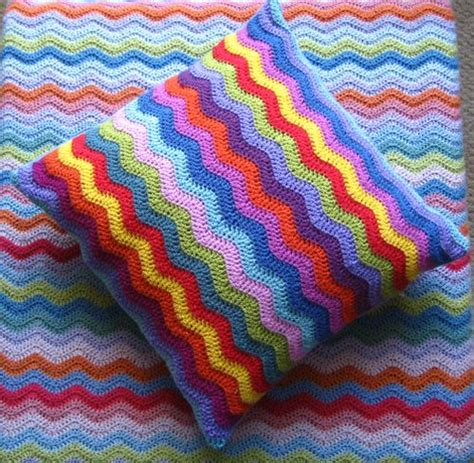 crochet zig zag pillow pattern attic24 ripplesome ripples cushy cushions