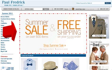 ls plus promotional code paul fredrick summer sale plus free shipping coupon code