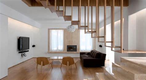 escalera interior escaleras de interior de madera de aluminio con pasamanos