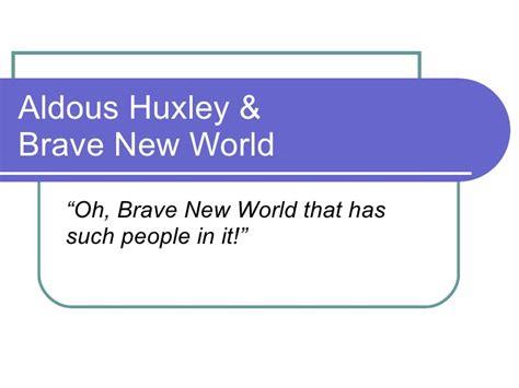 freedom theme in brave new world aldous huxley
