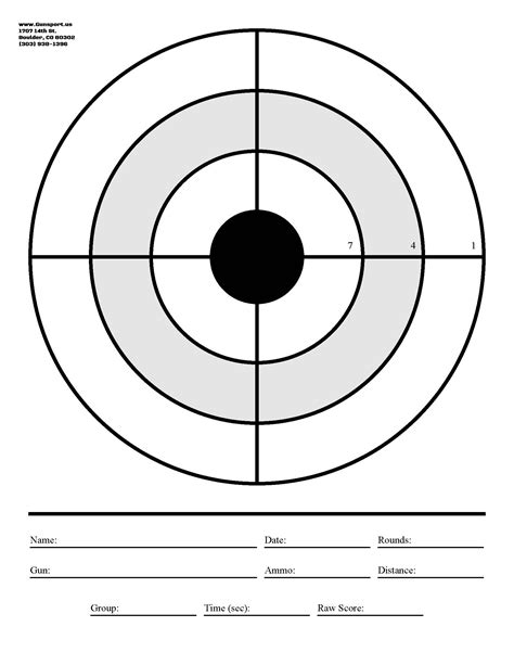 printable large rifle targets gunsport of colorado want to download a target to use