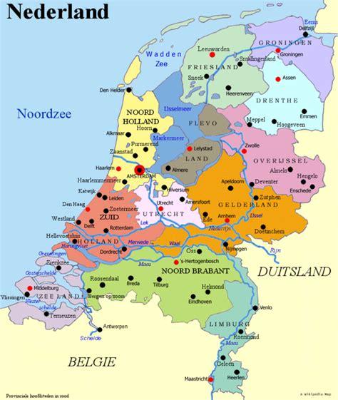 netherlands embassy map map of netherlands