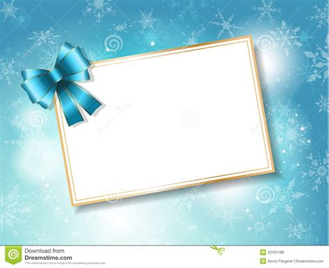 Christmas Card Gift - christmas gift card background stock vector image 22101188