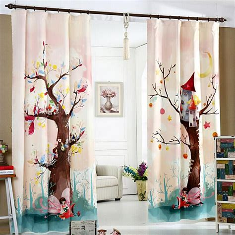 custom photo curtains adding digital prints to kids room superior 3d digital printing cartoon kids curtains