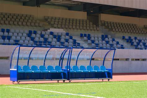 bench soccer bench soccer stock image image of goal bench kick spectators 3217803