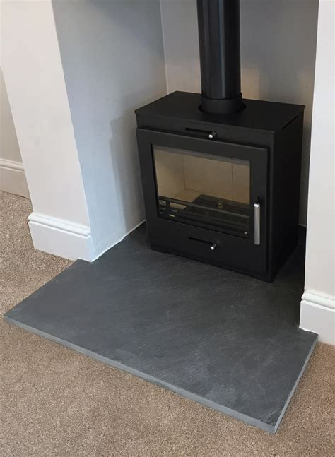 Slate Fireplace Hearth by Riven Slate Hearths Slate Tiles