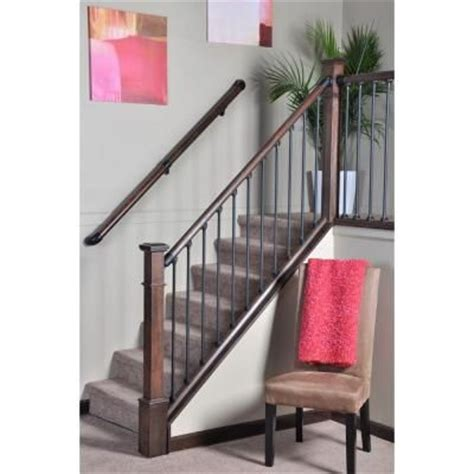 interior railings home depot stair simple axxys wall rail bracket black home the o