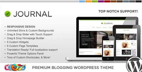 themeforest journal wp journal responsive wordpress theme by contempoinc
