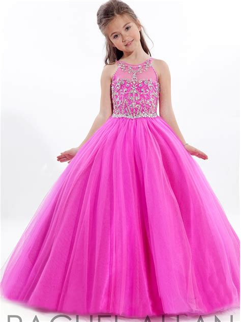 Dress Baju Bayi Anak Motif Cupcake Pink fuchsia s pageant dresses gown shining beaded