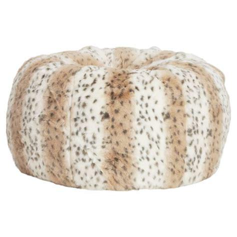 leopard skin bean bag snow leopard faux fur beanbag pbteen