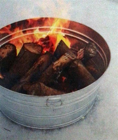 diy pit trough galvanized tub c firepit patio lawn ideas galvanized tub tubs and cing