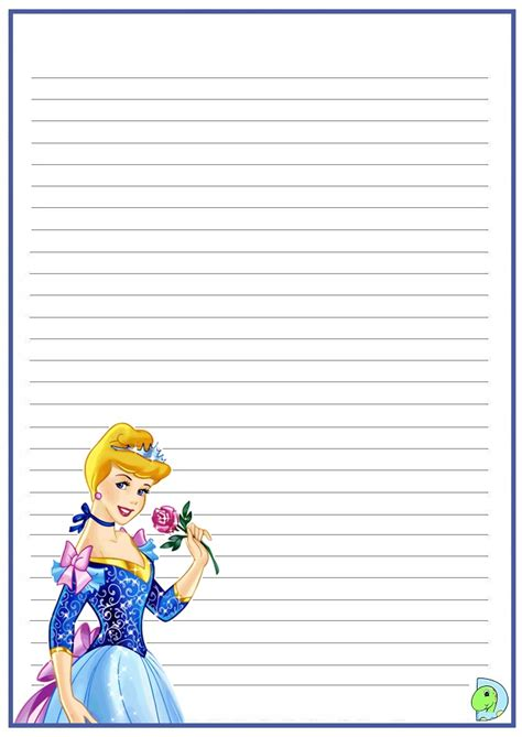 princess writing paper cinderella writing paper dinokids org