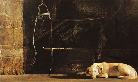 Chadds Ford Fireplace by Andrew Wyeth Ides Of March 1974 Egg Tempera Painting