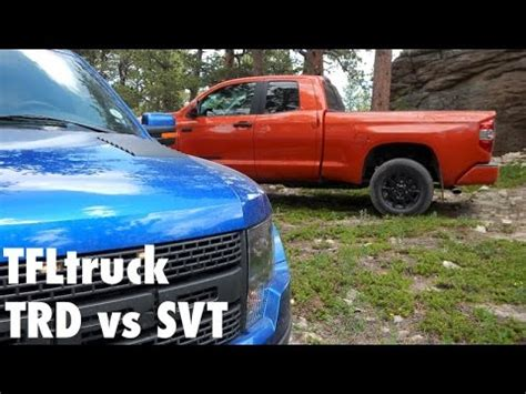 exclusive: 2015 toyota tundra trd pro vs ford f 150 svt