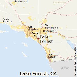 where is lake forest california on a map best places to live in lake forest california