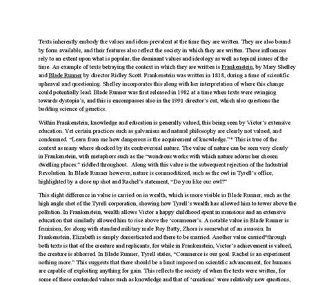 Blade Runner Essay by Comparative Study Blade Runner Fran