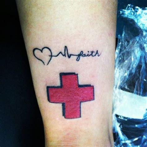 Tattoo Red Cross | my new tattoo as a registered nurse i wear my red cross