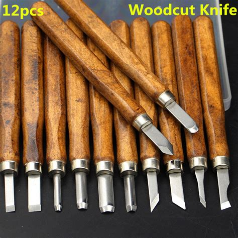 12pcs multifunction chisel handmade woodcut knife alex nld
