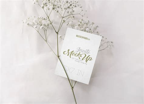 wedding invitation card mockup psd set good mockups