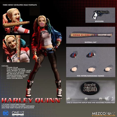 figure harley quinn the one 12 collective harley quinn plastic and plush